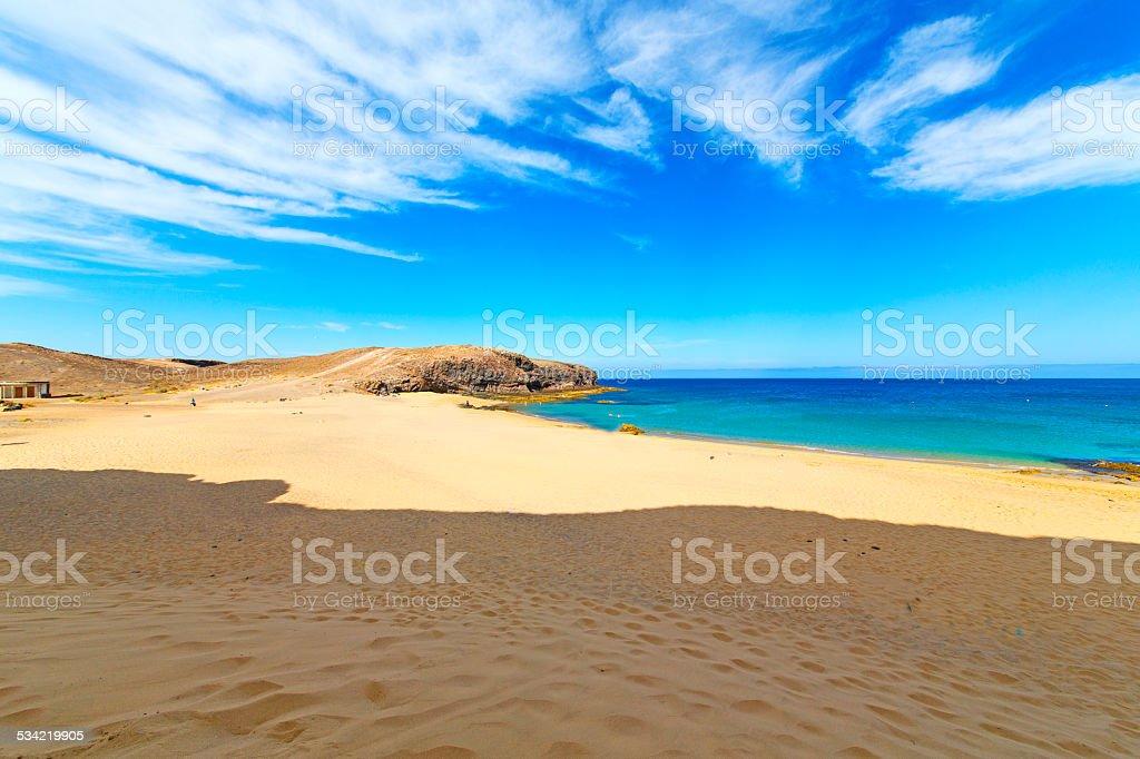 white coast lanzarote  in spain  swimming stock photo