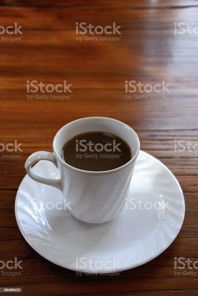White Coffe Cup with copy space royalty-free stock photo