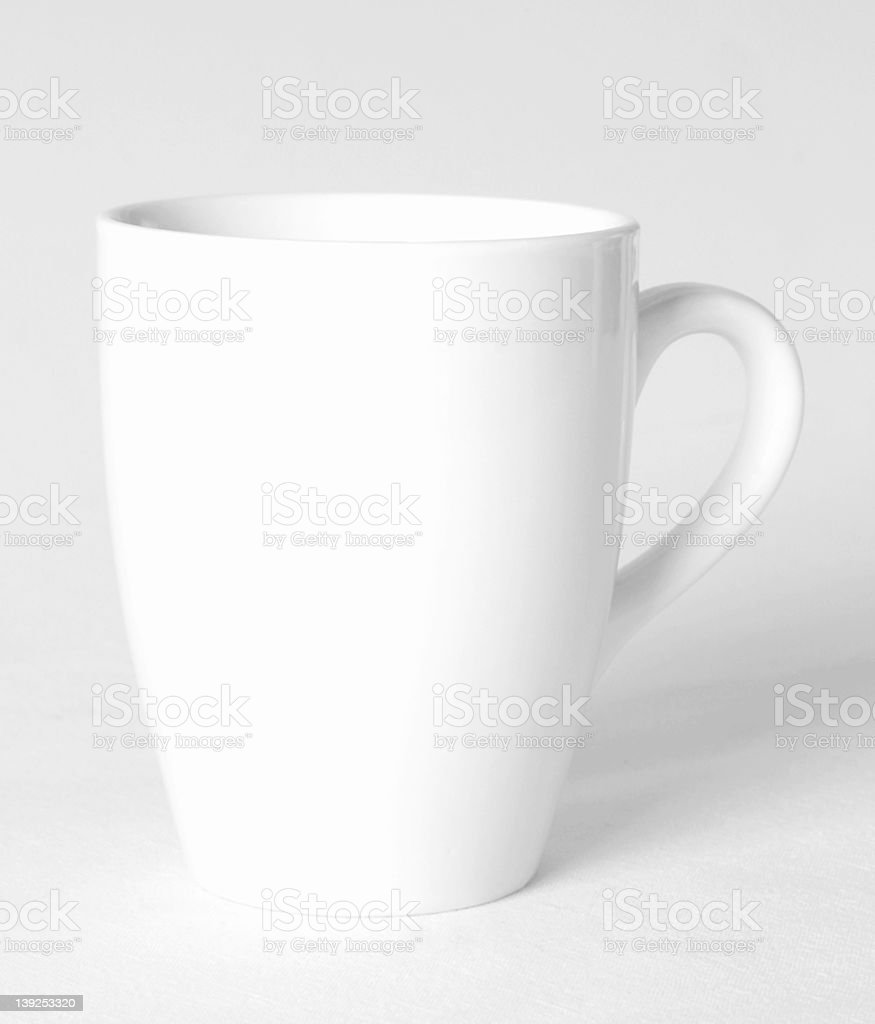 White coffee cup isolated on white background stock photo