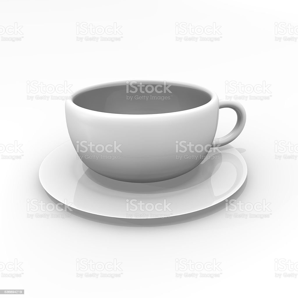 White Coffee Cup on a white background stock photo