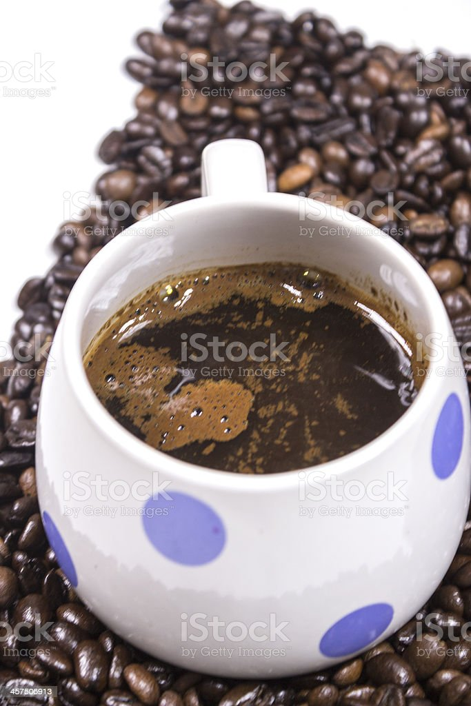 white coffee cup on background stock photo