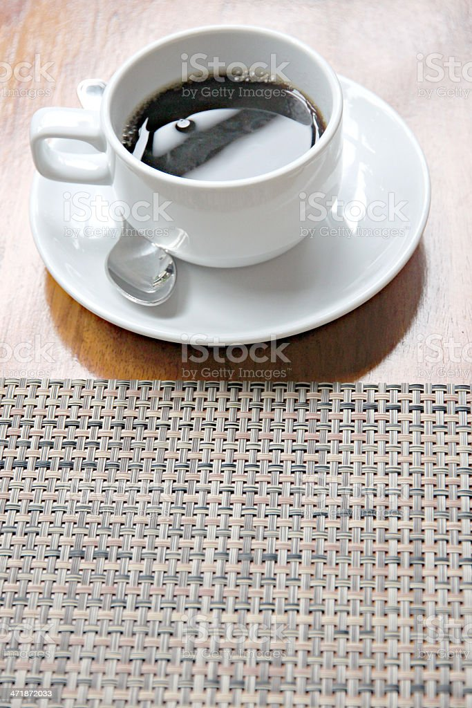 White Coffee cup on the table. royalty-free stock photo