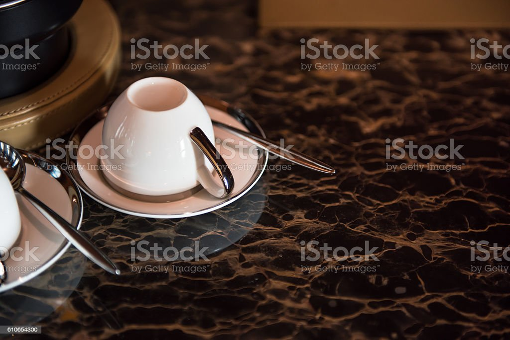 White coffee cup. stock photo