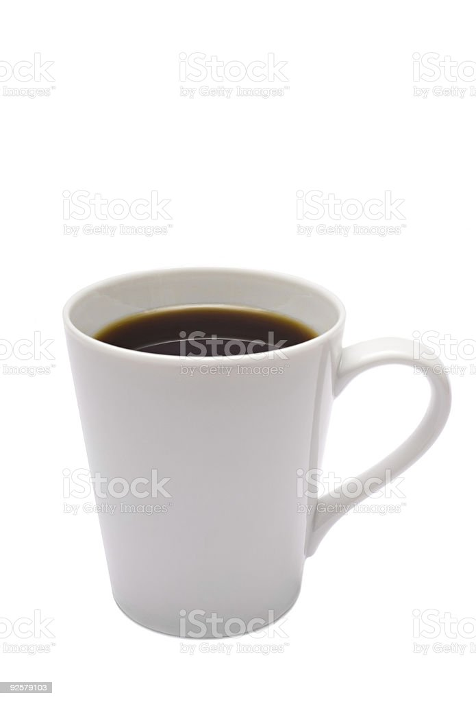 White Coffee Cup-Vertical royalty-free stock photo