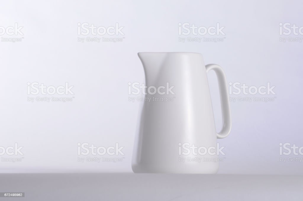 White coffee mug and white background stock photo