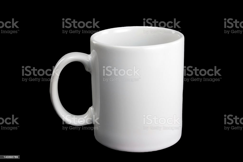 White coffee mug royalty-free stock photo