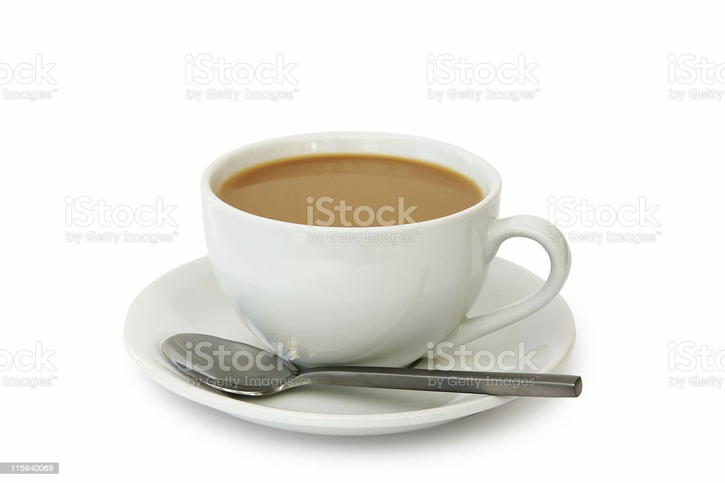 White Coffee or Tea royalty-free stock photo