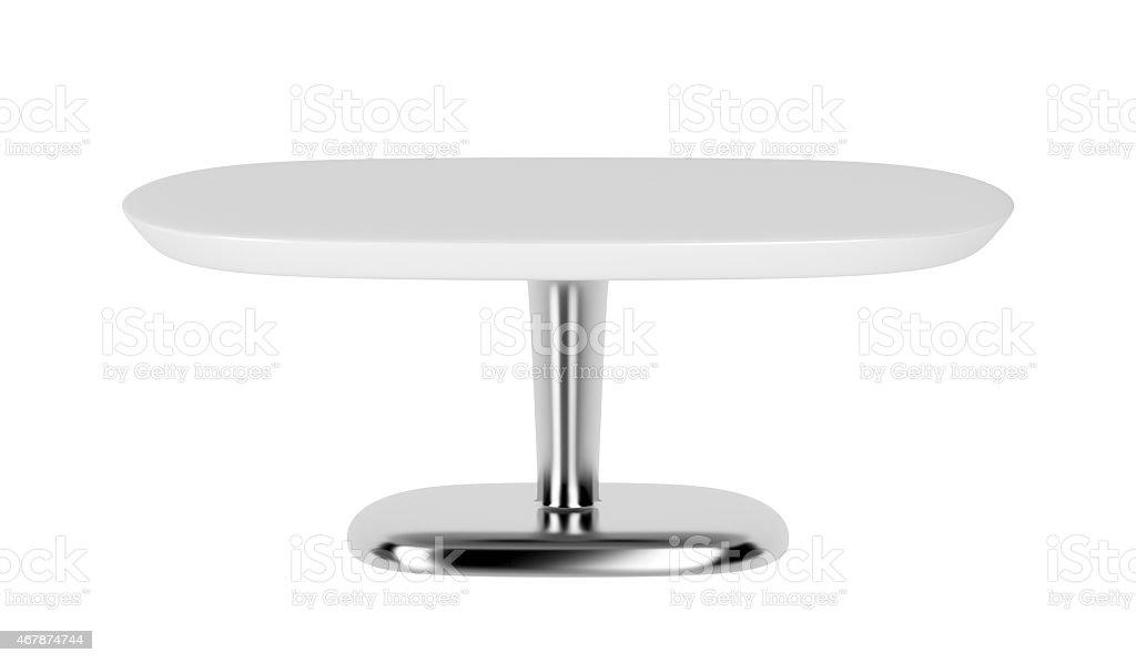 White coffee table stock photo