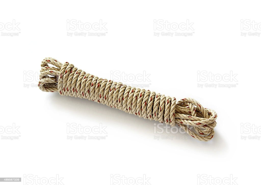 white coil rope stock photo