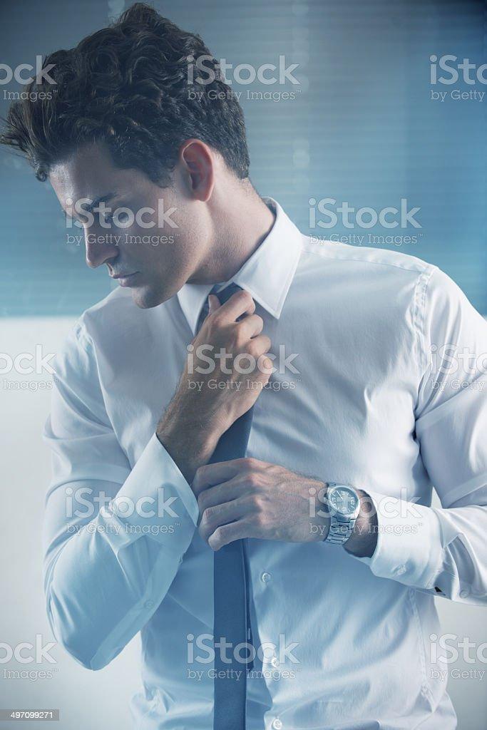 White collar confidence stock photo
