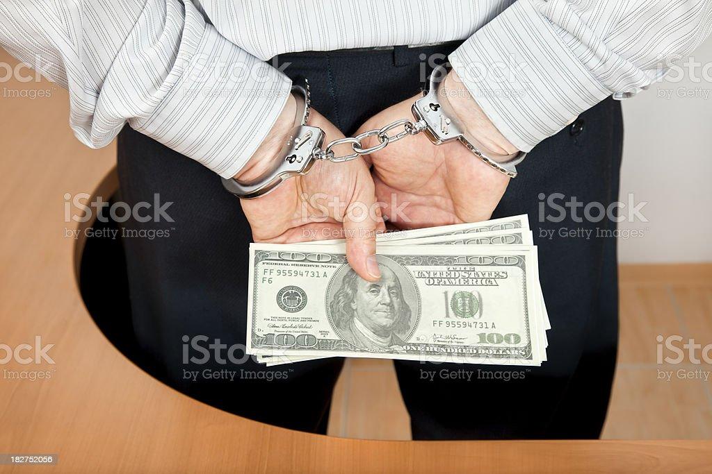 White Collar Crime - Bribe / Corruption stock photo