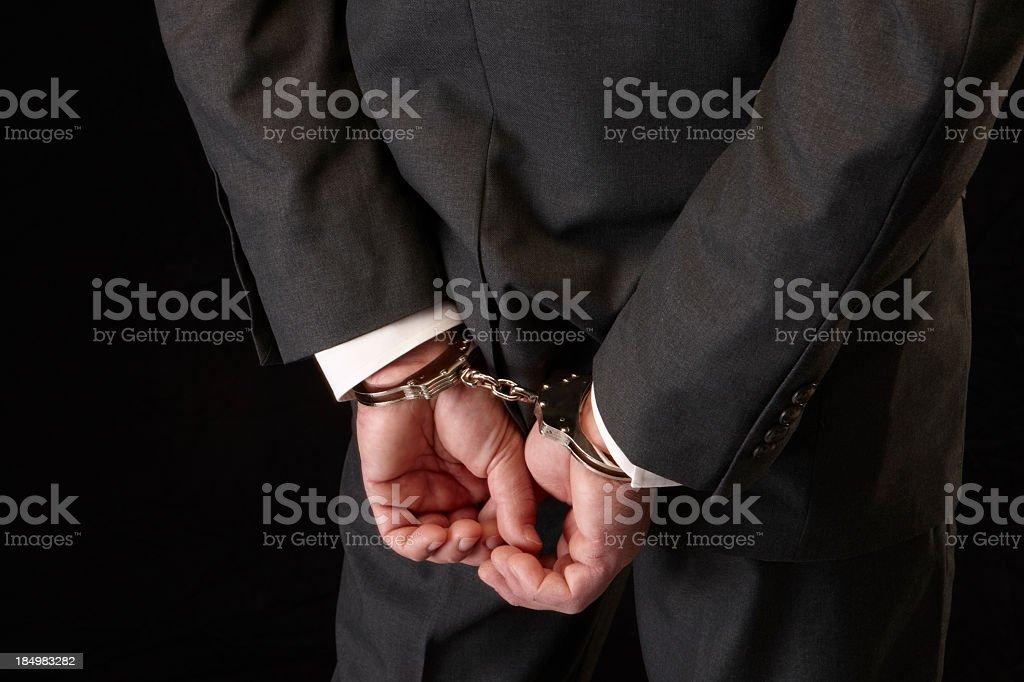 White collar crime stock photo