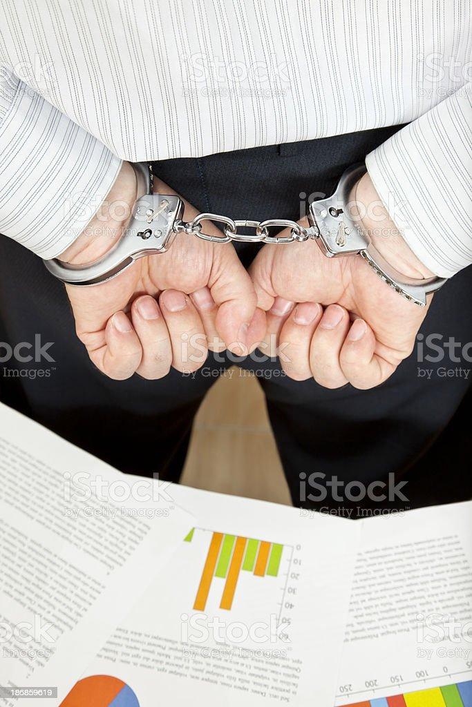 White Collar Crime - Under Arrest stock photo