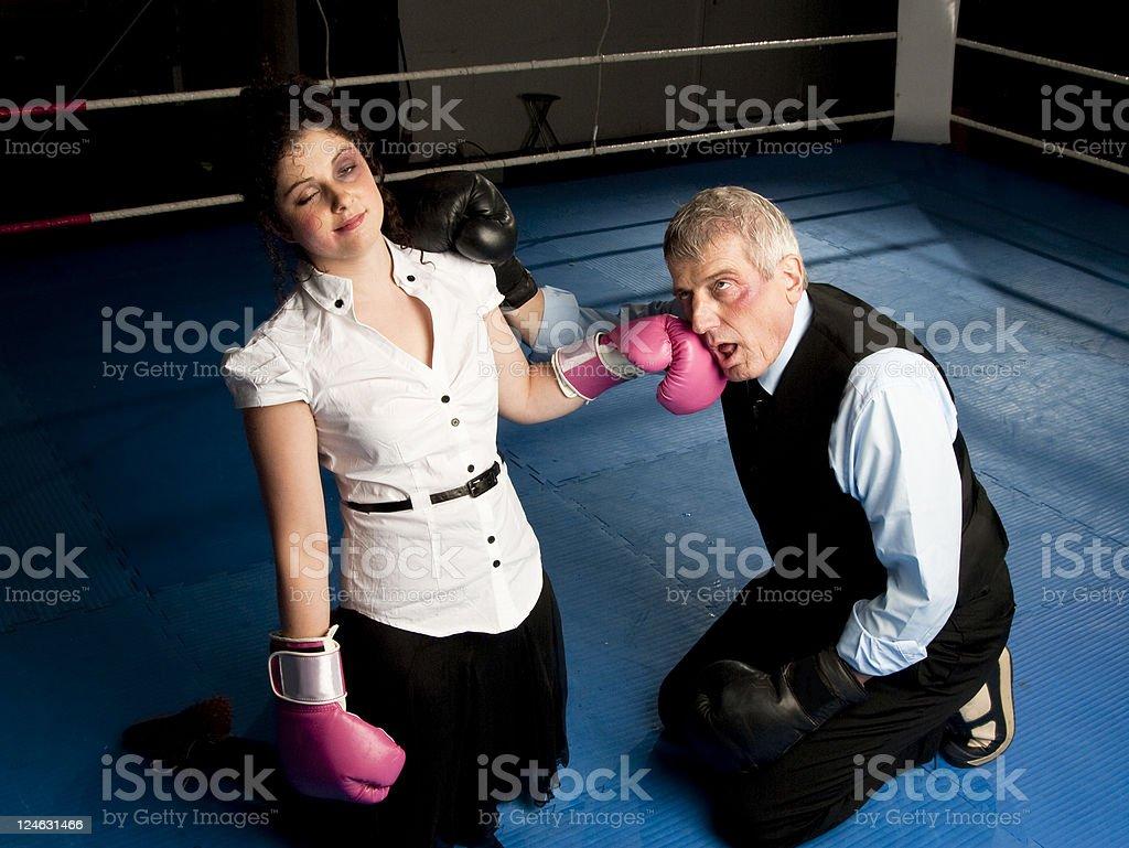 White Collar Knock out stock photo