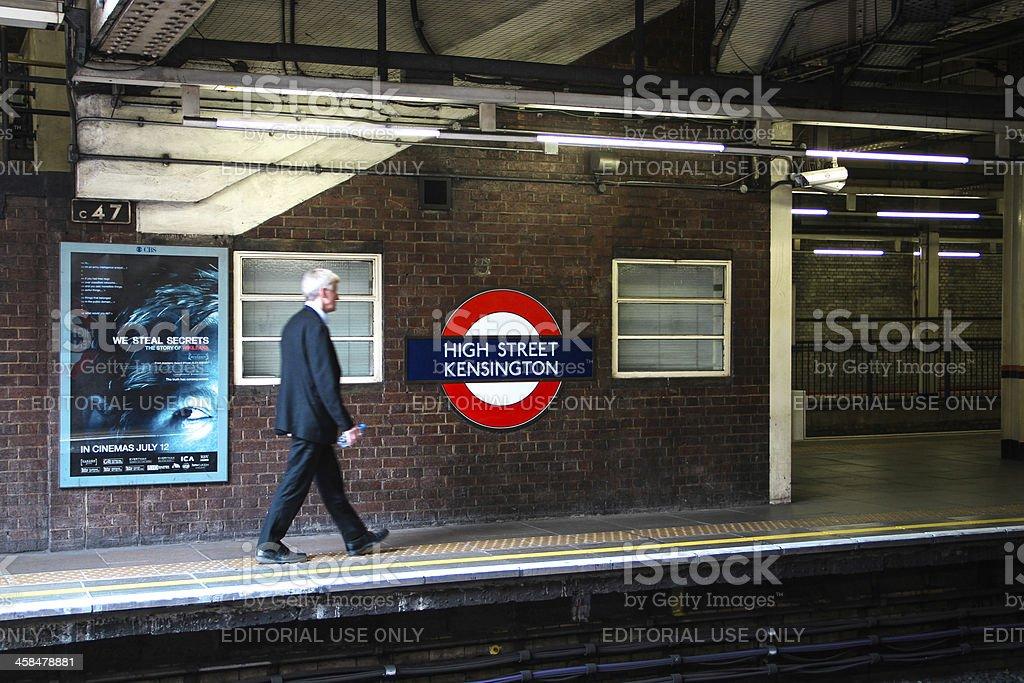 White collar on a platform, London royalty-free stock photo