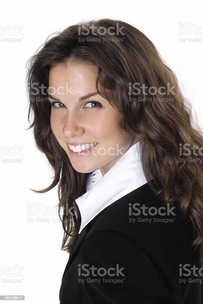 White Collar Woman royalty-free stock photo