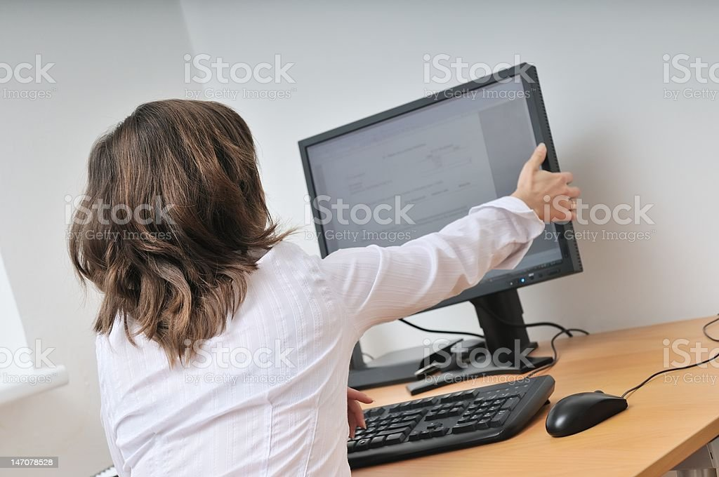 White collar worker at computer royalty-free stock photo