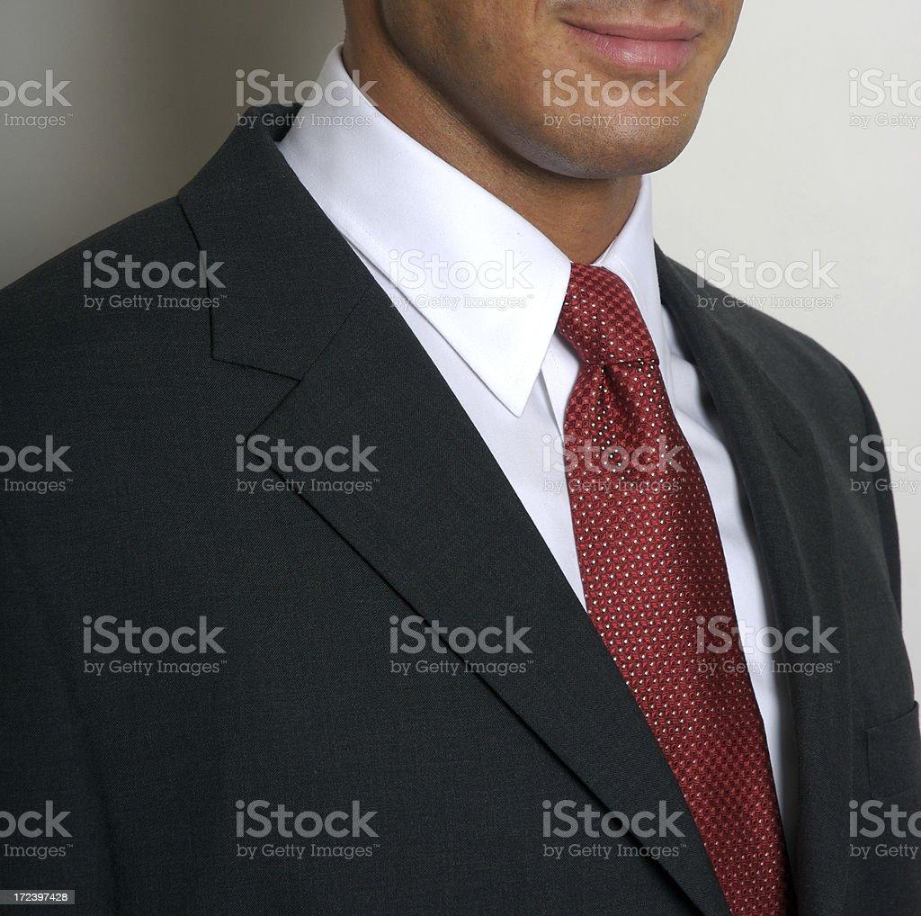 White Collar Worker Businessman Portrait Close-Up stock photo