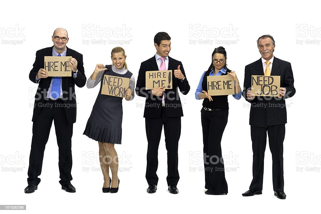 White collars workers looking for job royalty-free stock photo