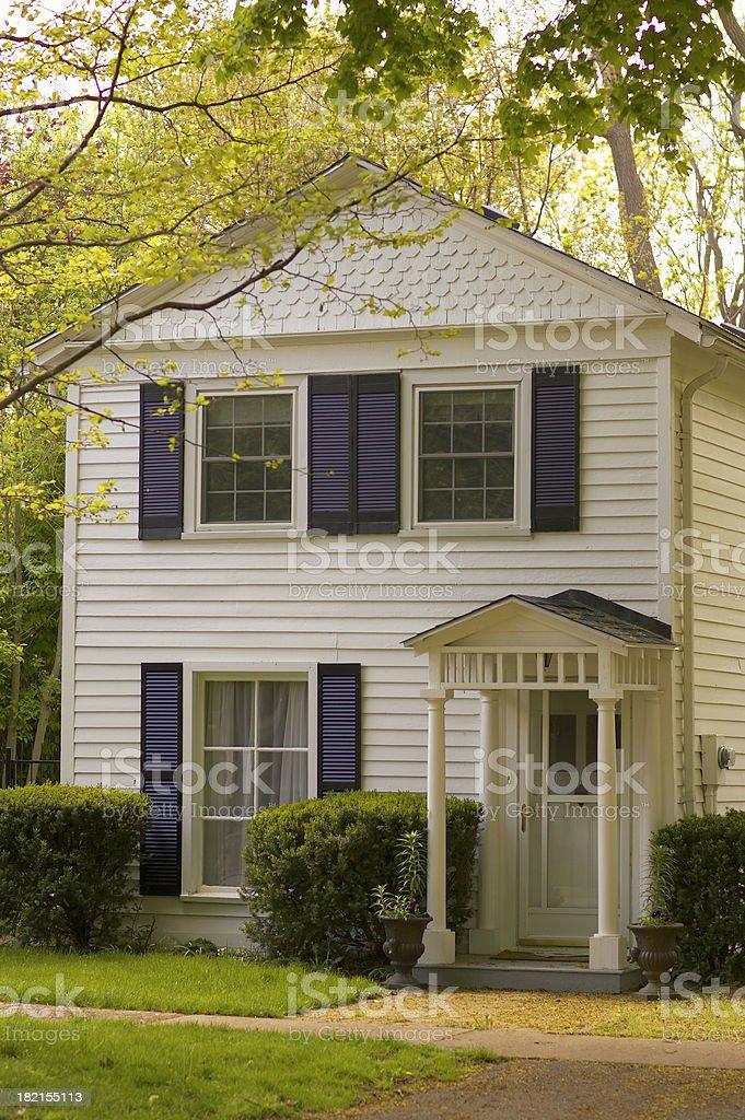 White Colonoial House royalty-free stock photo