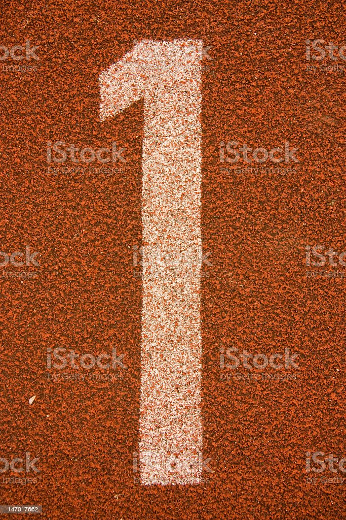 white color digit number on red stock photo