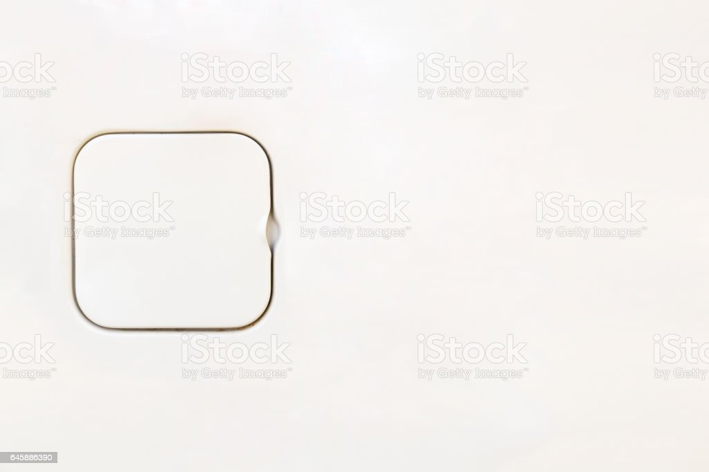 white color fuel tank lid for background stock photo