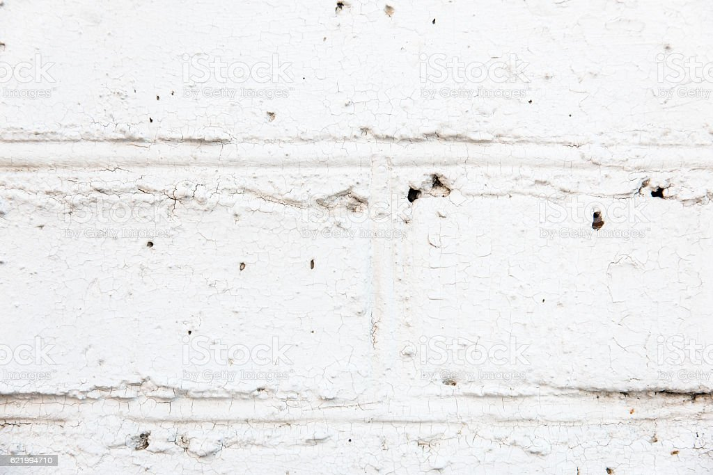 White color of brick wall texture background stock photo