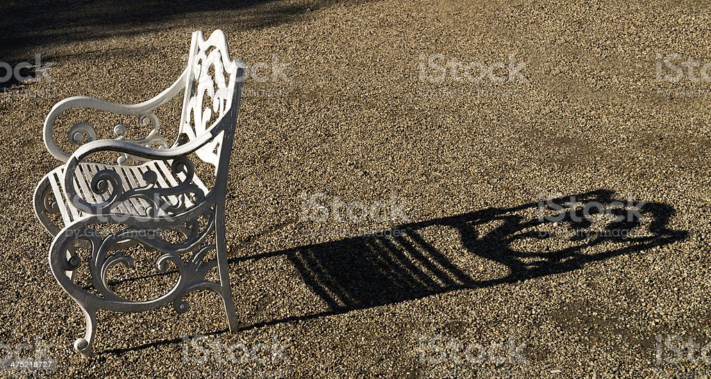 white colored baroque chair stock photo