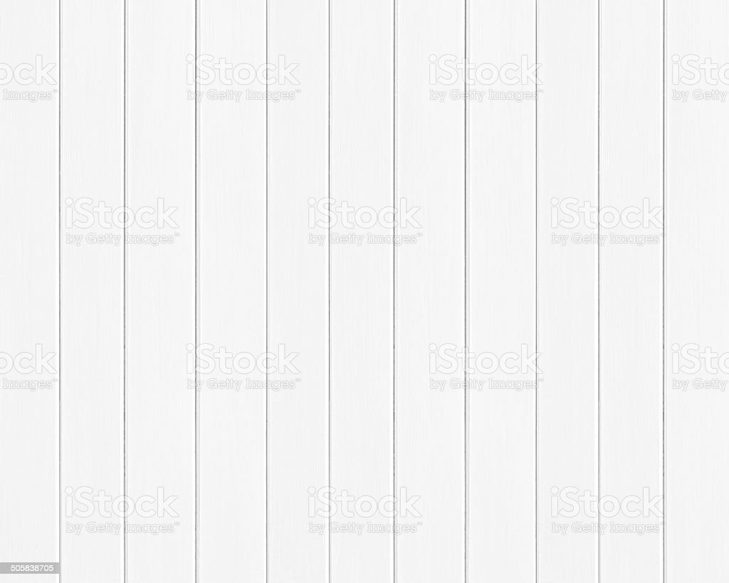 White colored wood plank texture as background stock photo