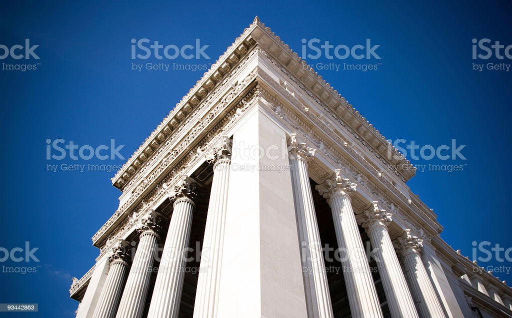 White column building stock photo