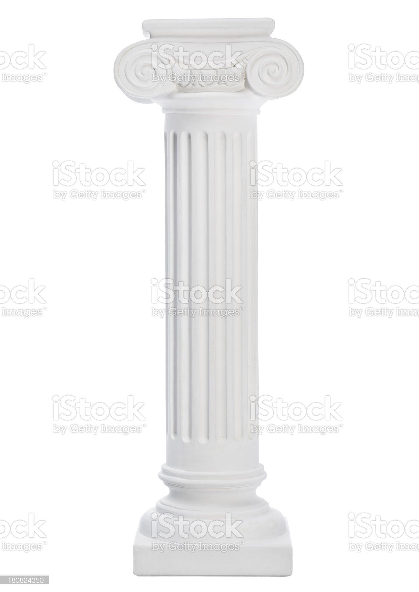 A white column on a white background royalty-free stock photo