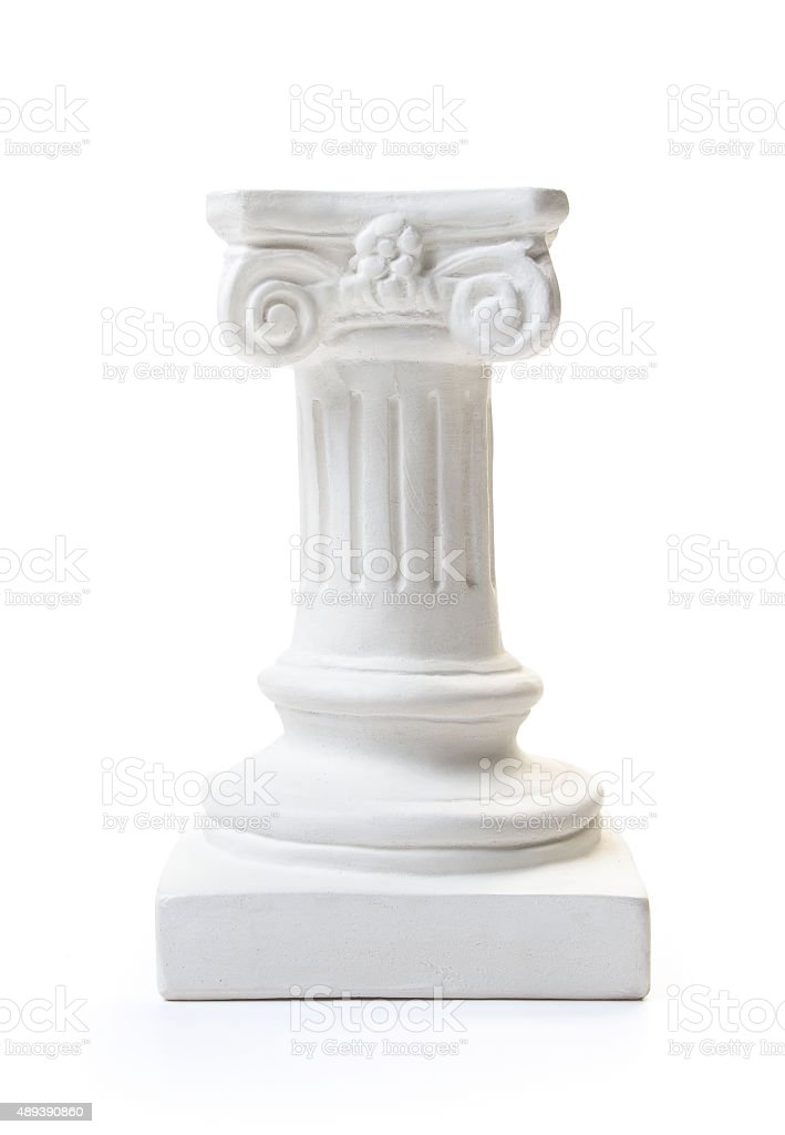 White column pedestal stock photo