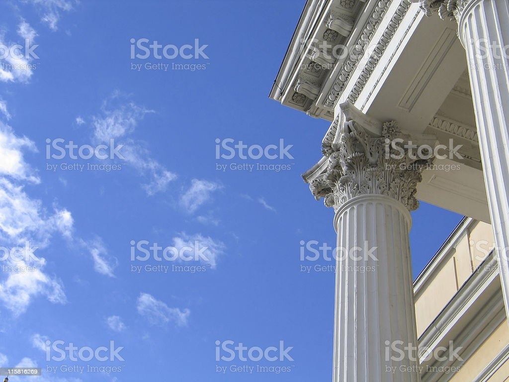 White column royalty-free stock photo