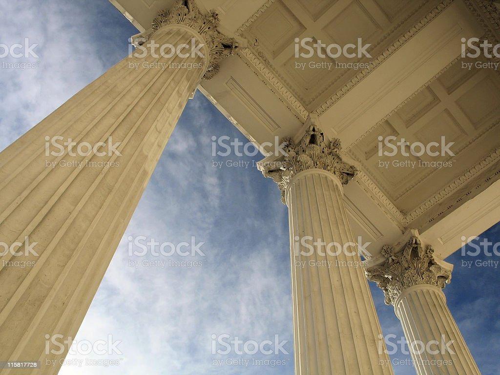 White column stock photo