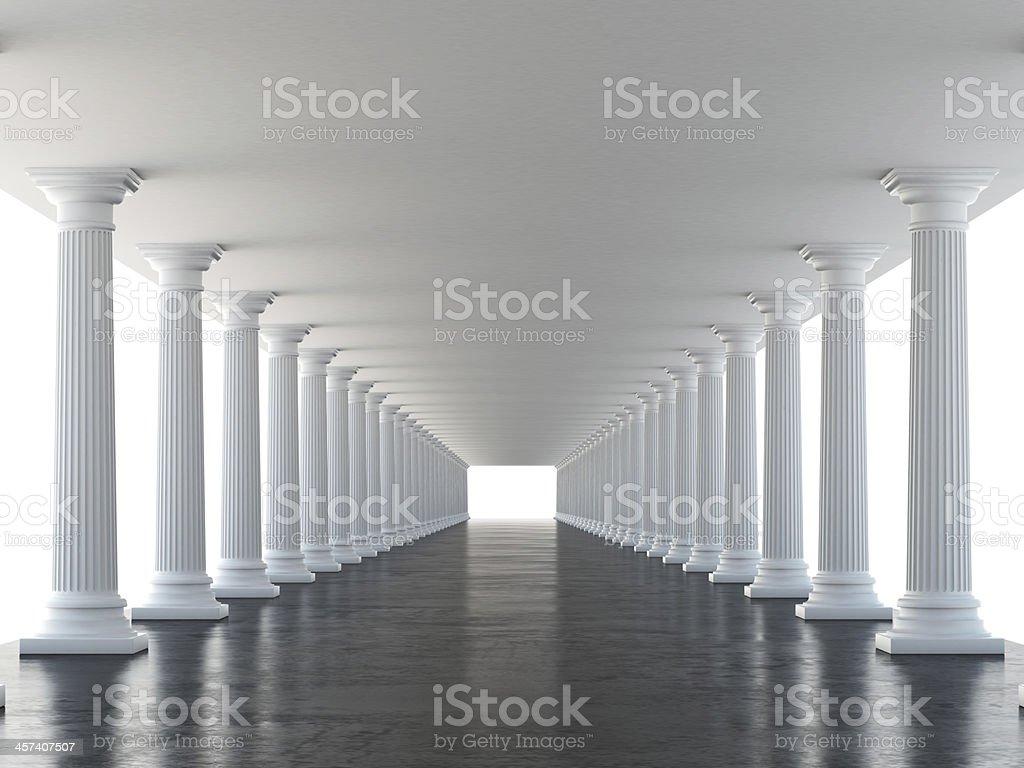 white columns stock photo
