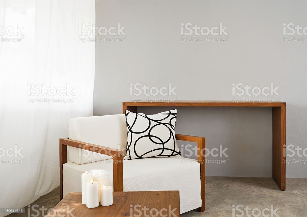 white comfortable sofa seat royalty-free stock photo