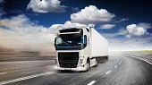 White commercial Lorry