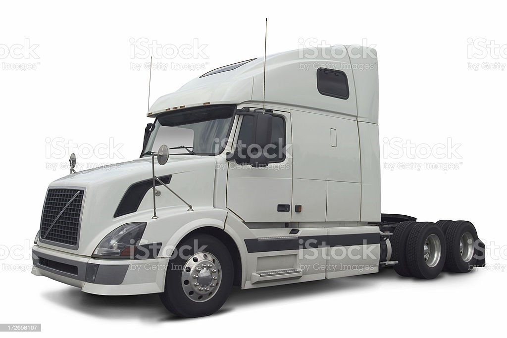 White commercial truck stock photo