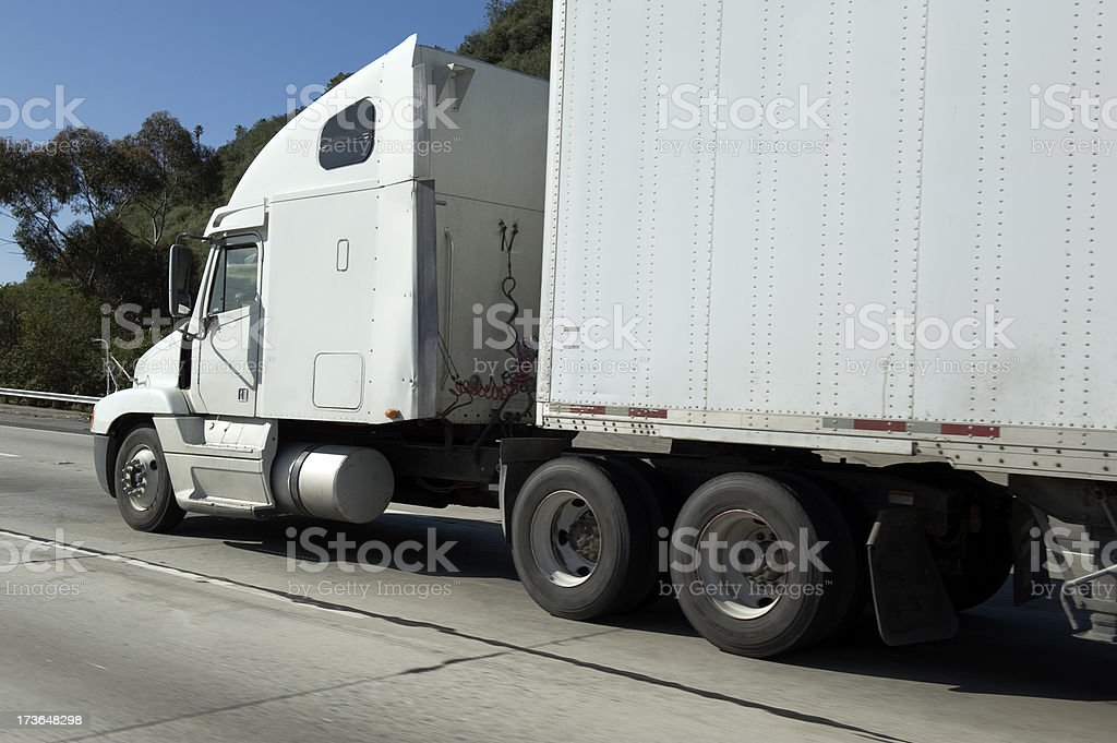 White commercial truck royalty-free stock photo