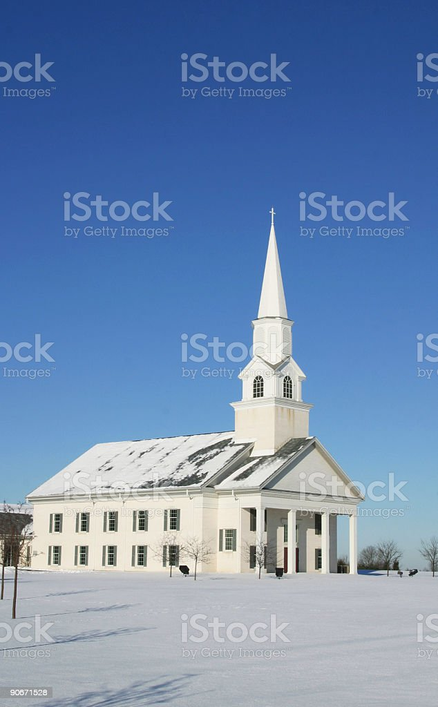 White Community Church, Winter 2 royalty-free stock photo