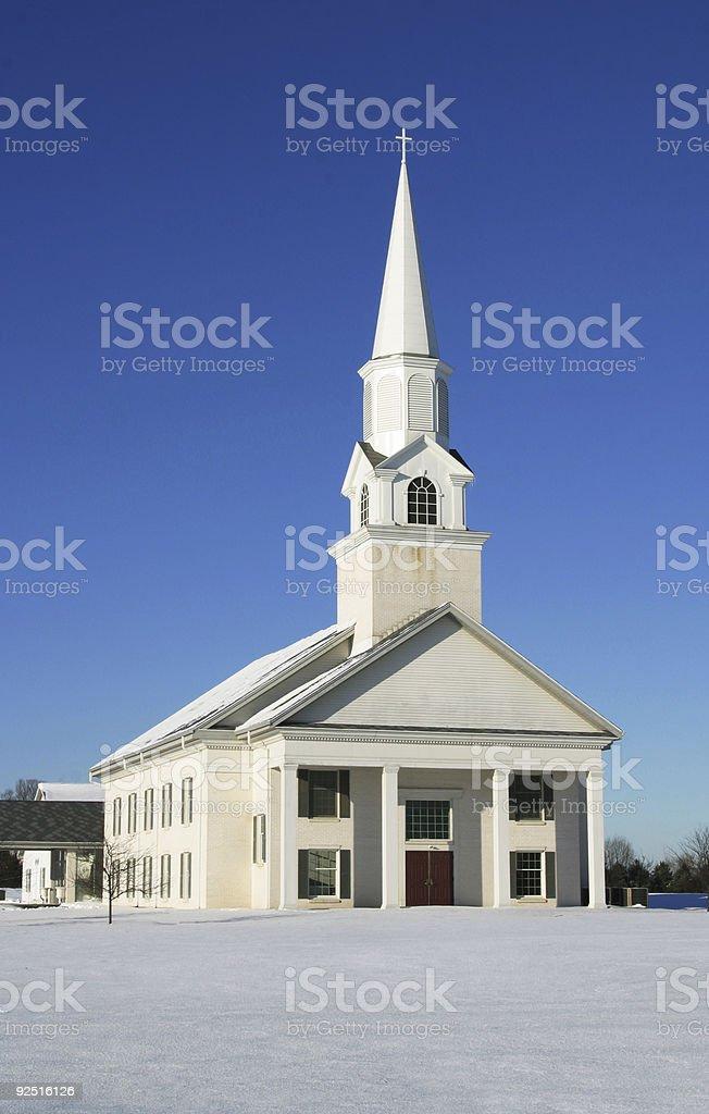 White Community Church, Winter 5 royalty-free stock photo