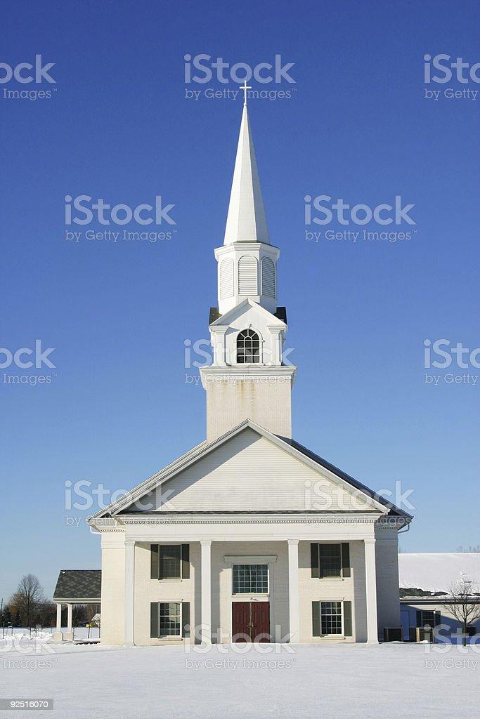White Community Church, Winter 7 royalty-free stock photo