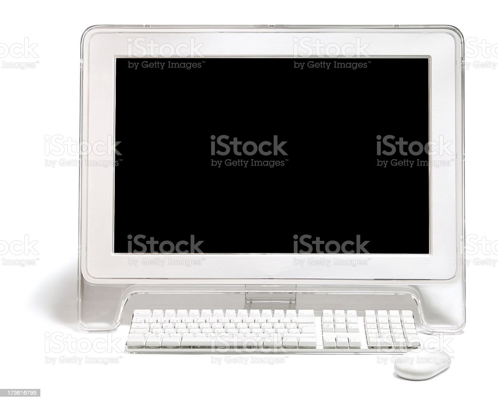 White Computer Monitor stock photo