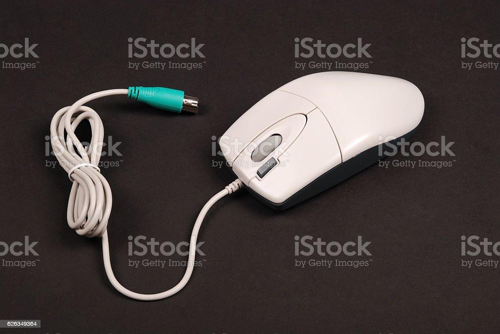 White computer optical mouse stock photo