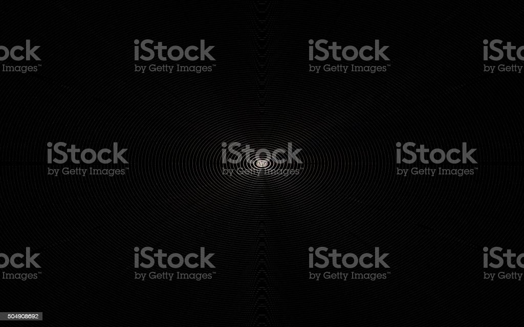 white concentric circles on a black background stock photo