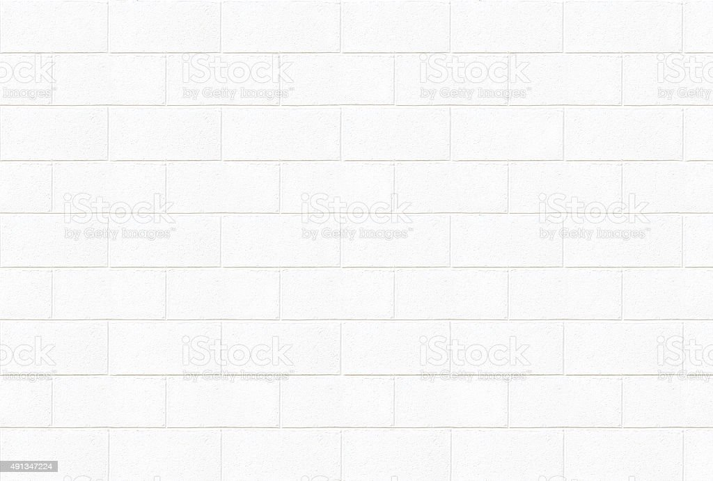 White concrete brick wall texture stock photo