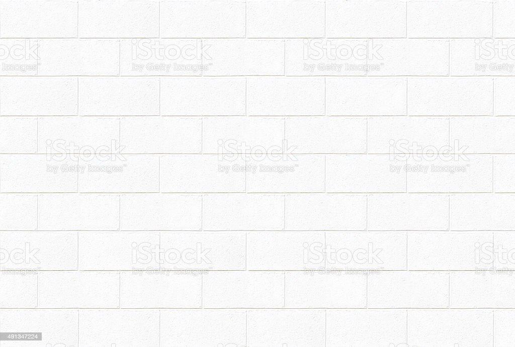 White concrete brick wall texture stock photo