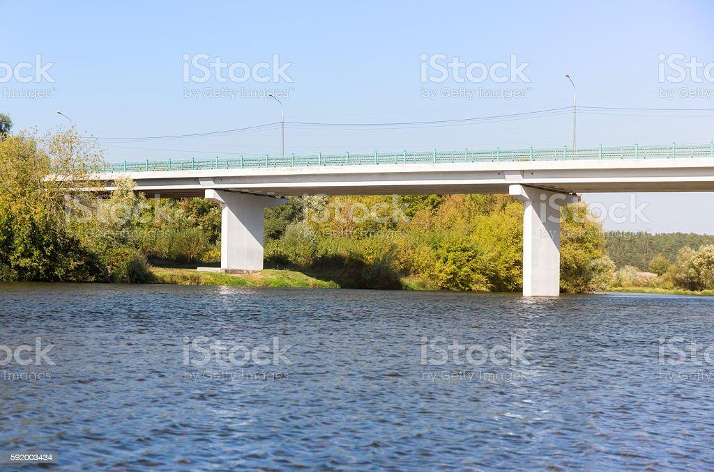White concrete bridge stock photo