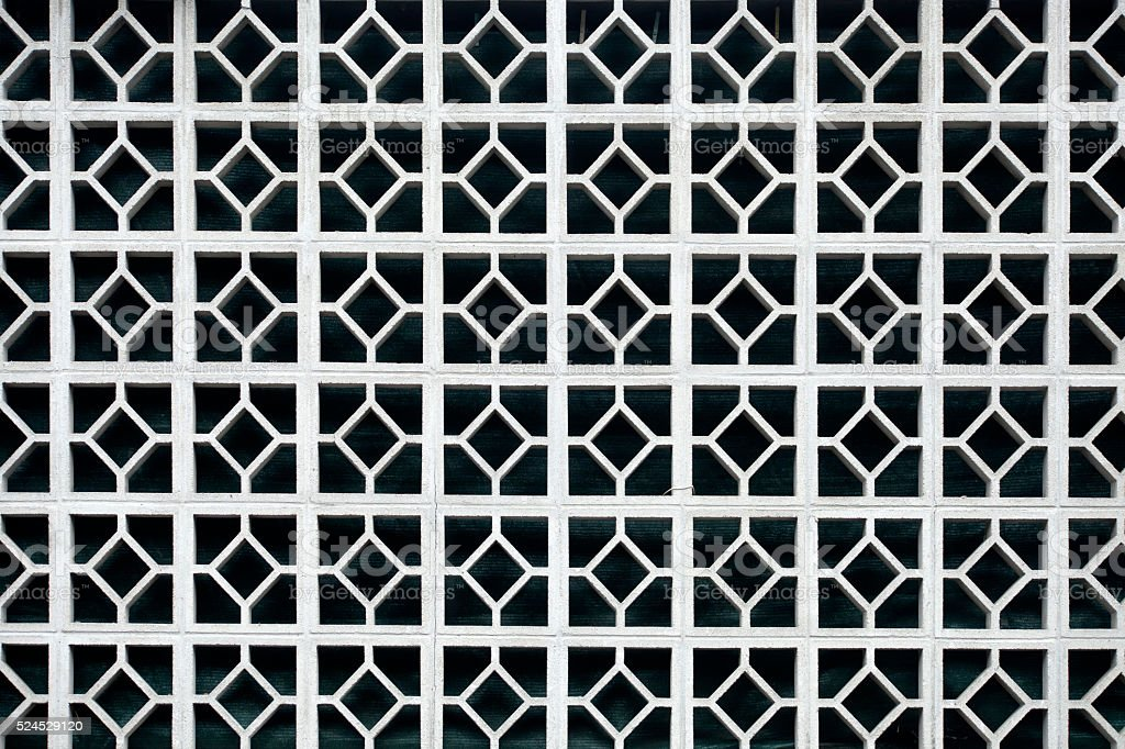 White concrete lattice work, full frame. stock photo