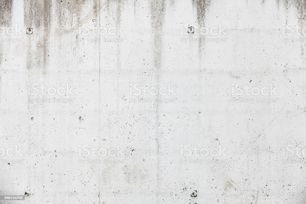 White concrete wall, background texture stock photo